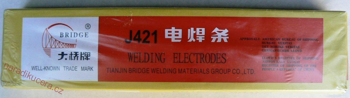 Fotografie Elektrody r.J421/2.5 - 2,5 kg