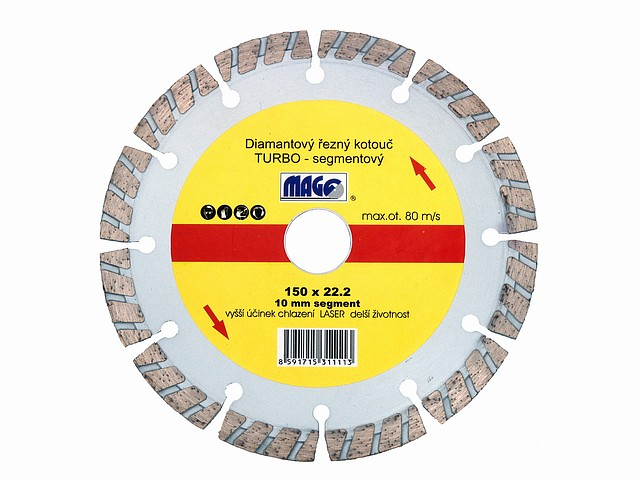 Diamant. kot. DKTS 230mm TURBO segment