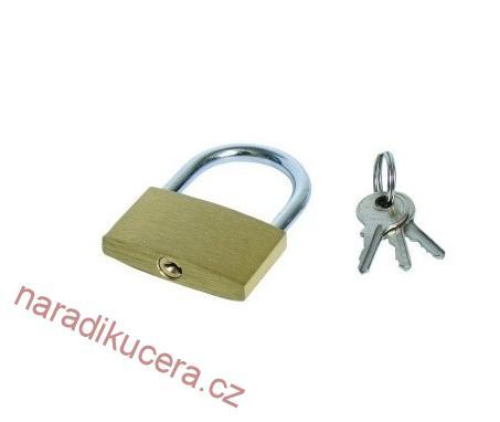 Visací zámek 30 mm - mosaz č. 23030