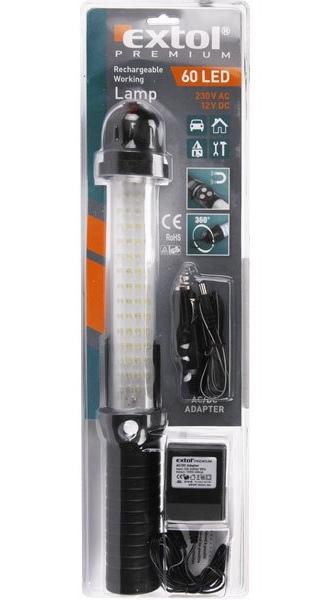 Lampa montážní aku nabíjecí 60LED, č.8862260