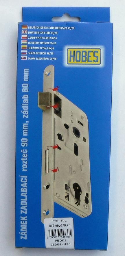 Zámek zadl. 536A P-L (90/80, obyč. klíč)