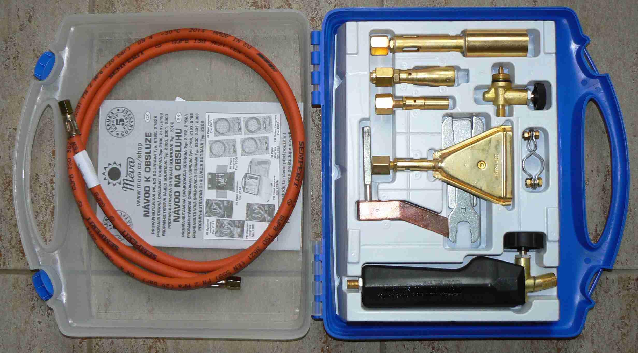 Pájecí souprava PB 2192A Meva v kufru