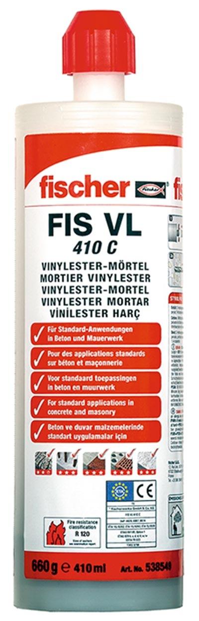 Fotografie Chemická malta vinylesterová FIS VL 410 C č. 538584 fischer