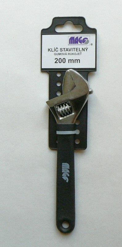 Klíč stavitelný pogum. ruk. 200mm č.30904200